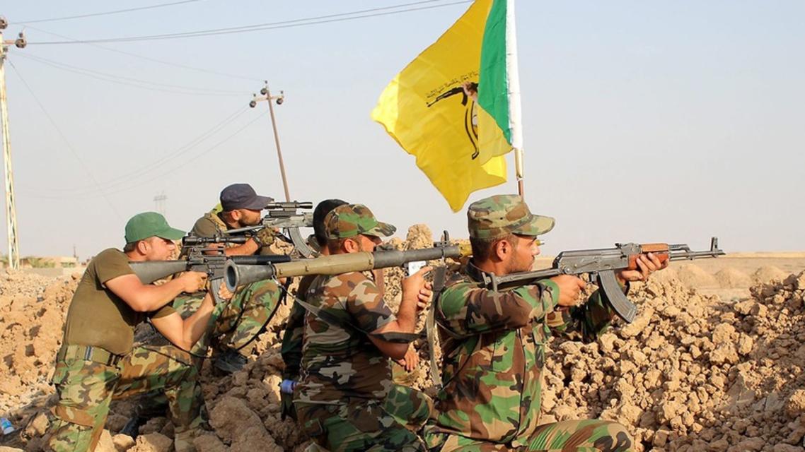 Kata'ib Hezbollah fighters. (Twitter, Mayhar313)