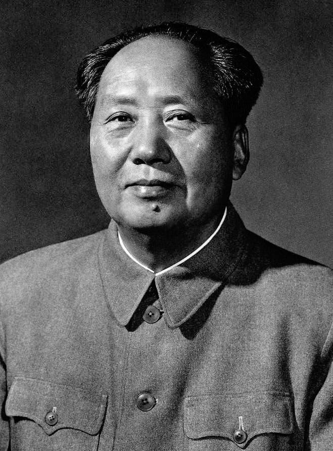 صورة لمؤسس جمهورية الصين الشعبية ماو تسي تونغ