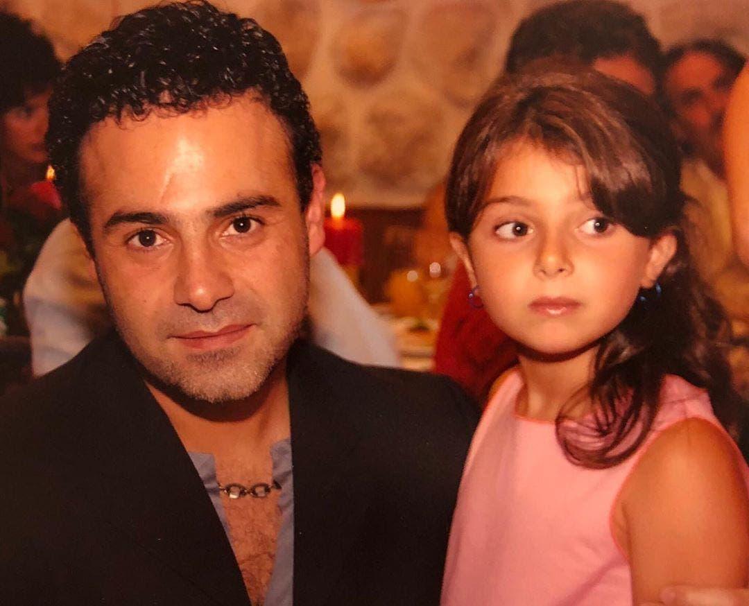ماريتا الحلاني مع والدها عاصي