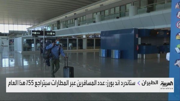 S&P: عدد المسافرين عبر المطارات سيتراجع 55% هذا العام