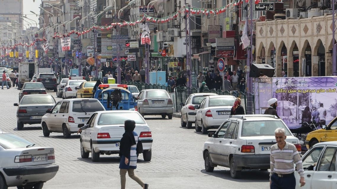 A picture taken on April 11, 2019 shows a partial view of a street in Ahwaz, the capital of Iran's southwestern province of Khuzestan. (AFP)