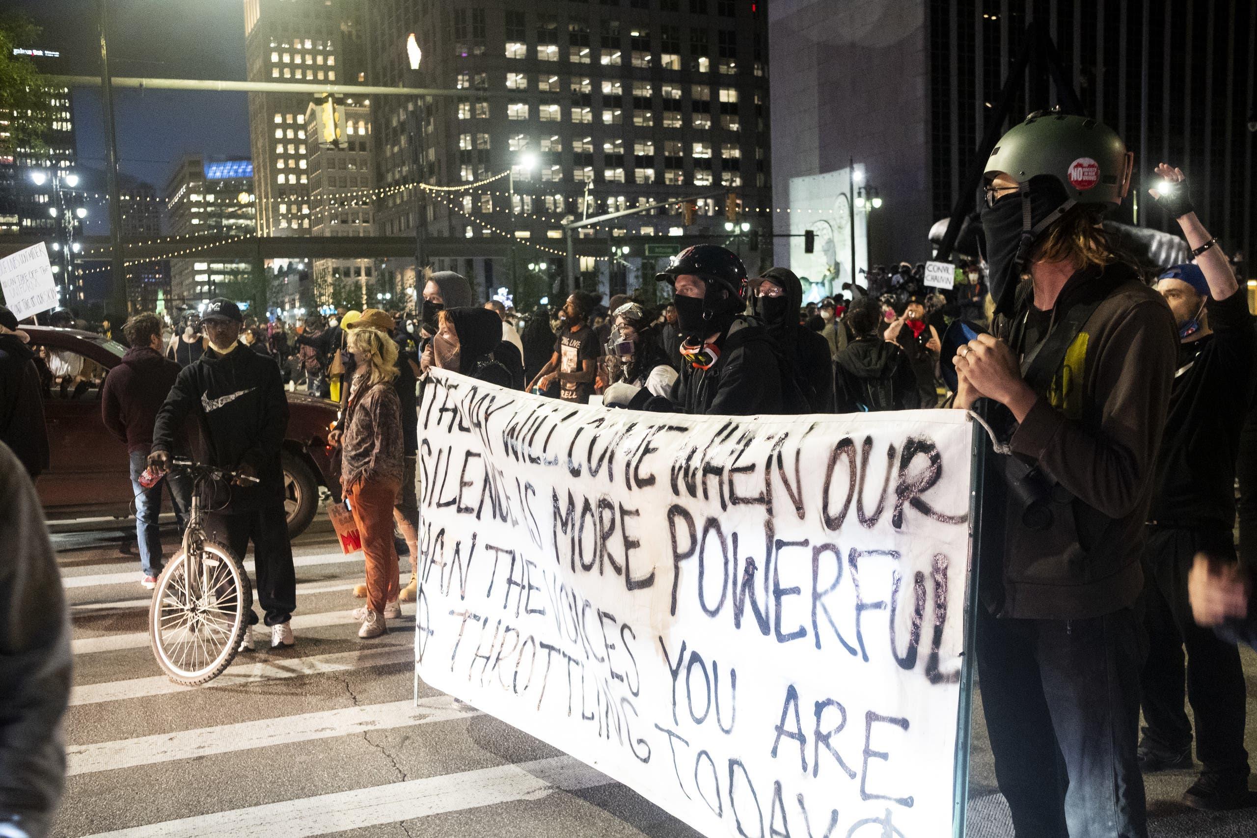 من احتجاجات أميركا