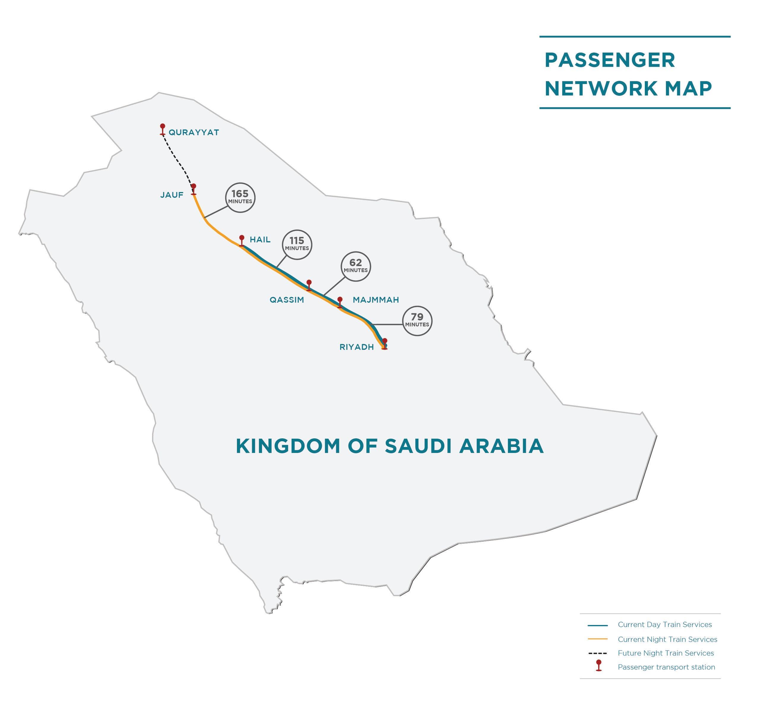 SAR passenger train map (SAR)