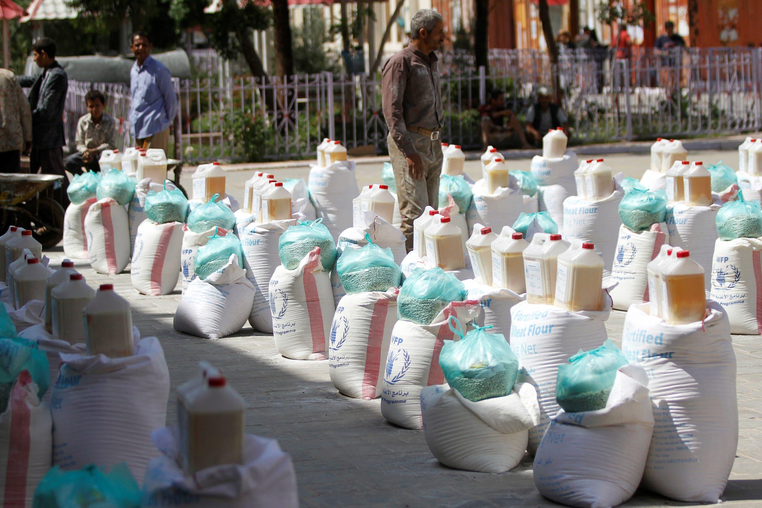 توزيع مساعدات أممية في صنعاء