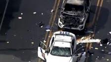 Philadelphia protesters destroy line of police cars in George Floyd demonstration