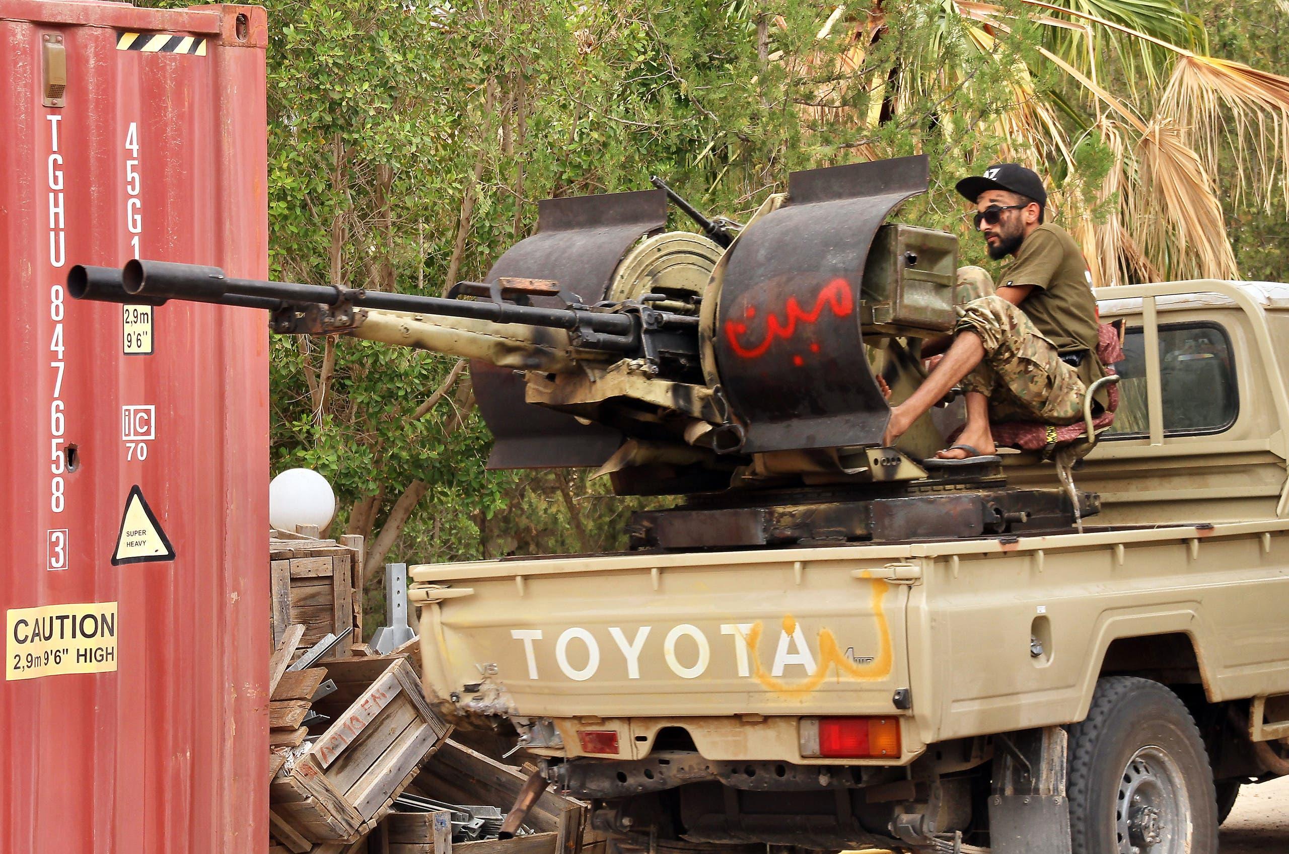 عناصر من الميليشيات في طرابلس الليبية (أرشيفية- فرانس برس)