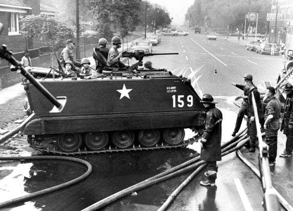 صورة لإحدى الآليات العسكرية بديترويت