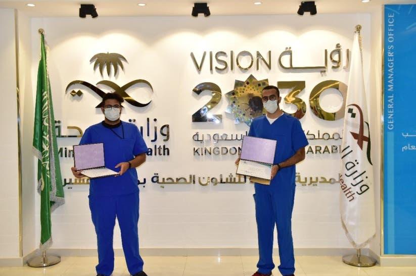 المتطوعان سعود آل حسين وعبدالعزيز آل معيض