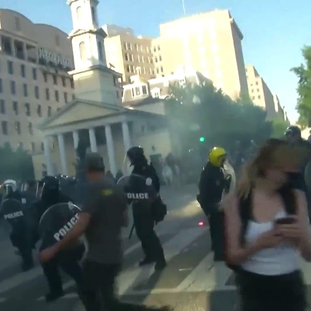 اشتباكات بين الشرطة والمتظاهرين في محيط البيت الأبيض