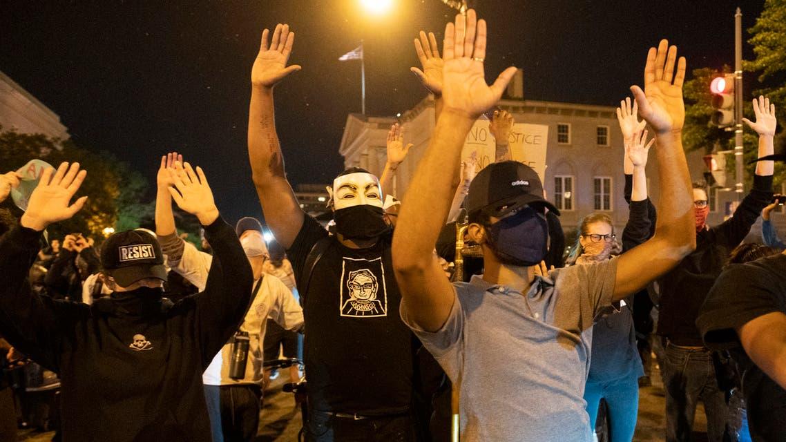 محتجون في اميركا (فرانس برس)