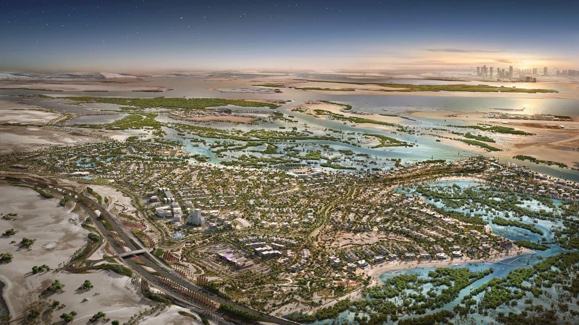 The Jubail Island development, artists' impression. (WAM)