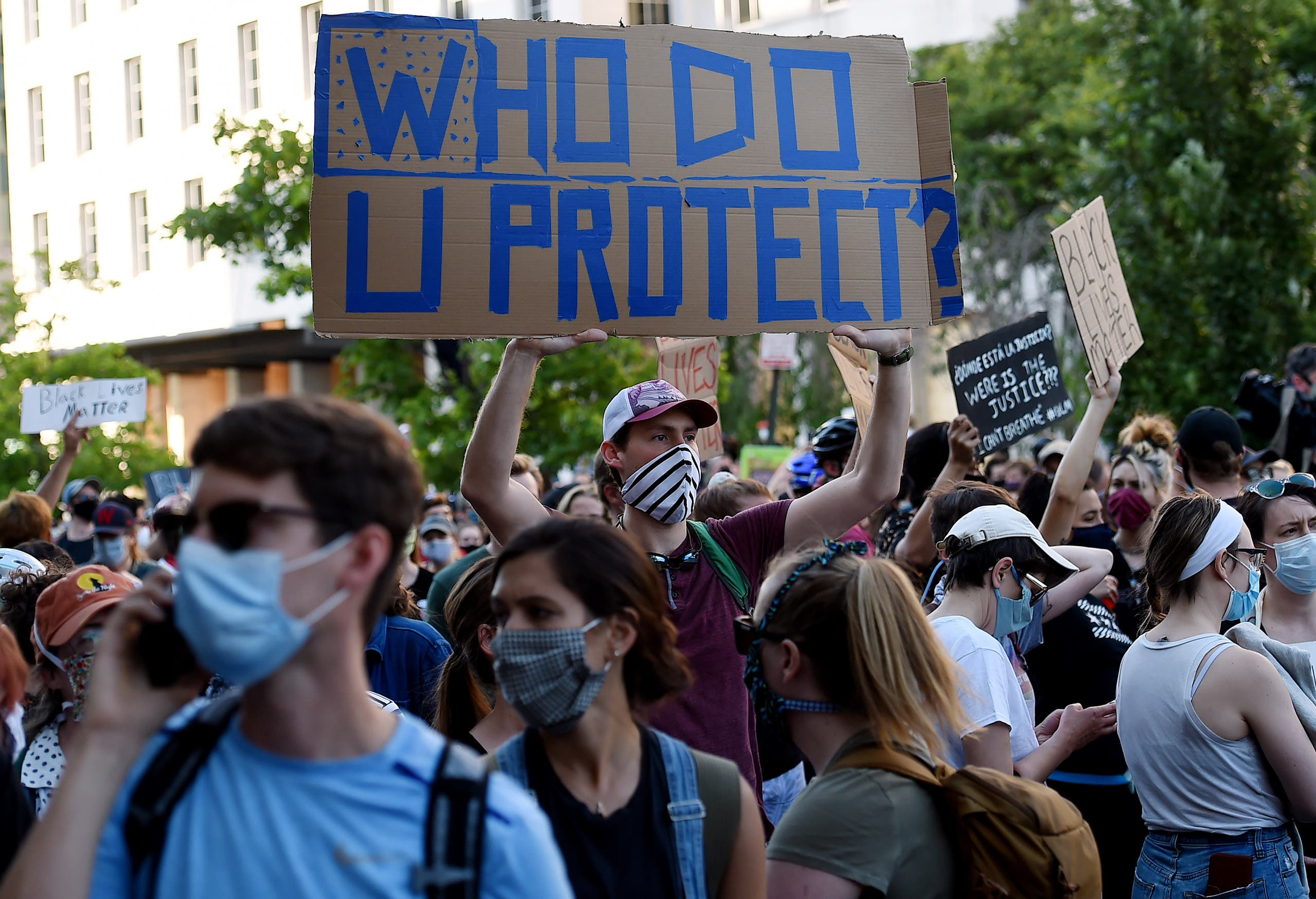 تظاهرات في  واشنطن(فرانس برس)