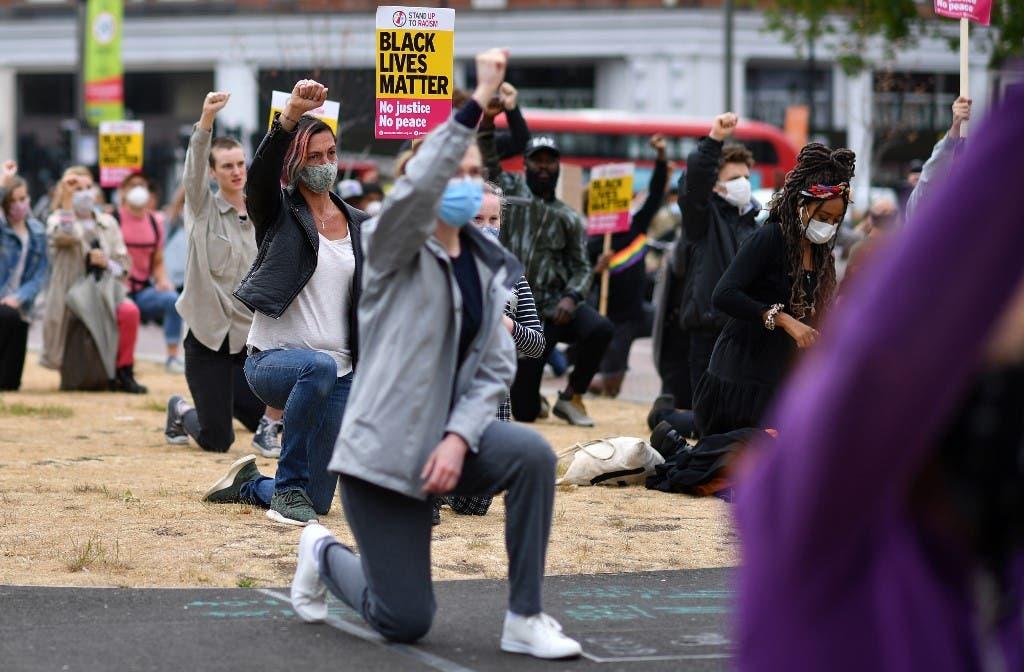 احتجاجات في لندن على مقتل جورج فلويد