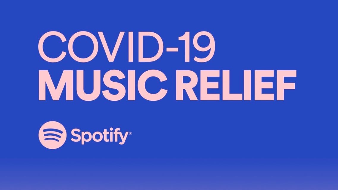The Spotify COVID-19 Music Relief logo. (Supplied)