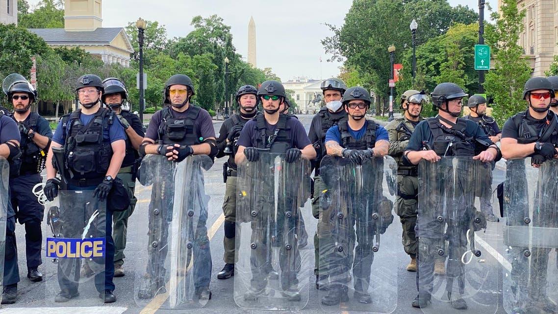 من أمام لافييت بارك في واشنطن(3 يونيو 2020- فرانس برس)