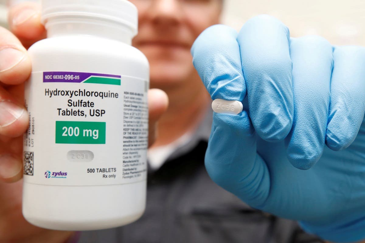 The drug hydroxychloroquine is displayed by a pharmacist. (File photo: Reuters)
