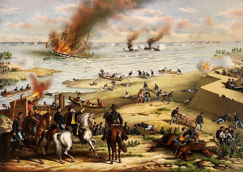 صورة لمخلفات إحدى المعارك بالحرب الأهلية الأميركية