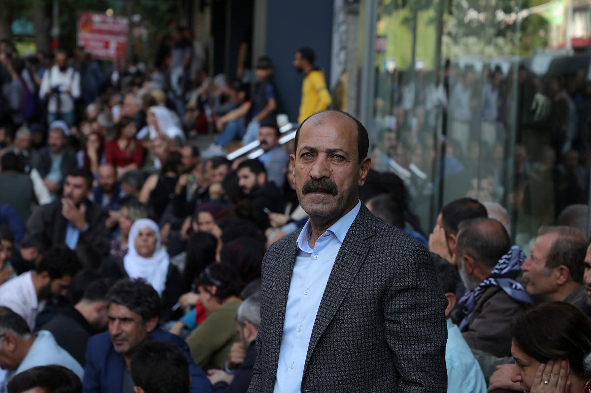 Pro-Kurdish Peoples' Democratic Party (HDP) lawmaker Musa Farisogullari takes part in a protest against the detention of their local politicians in Diyarbakir, Turkey. (File photo: Reuters)