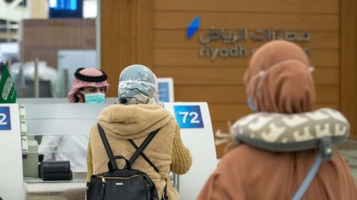 Passengers wait at the King Khaled airport in Riyadh for flying to Jakarta. (SPA)