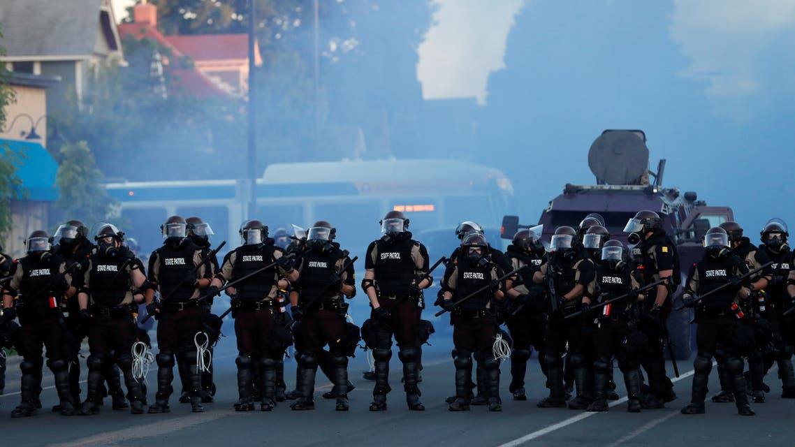 Security forces take position during a protest against the death in Minneapolis police custody of George Floyd, in Minneapolis, Minnesota, U.S., May 30, 2020. (Reuters)