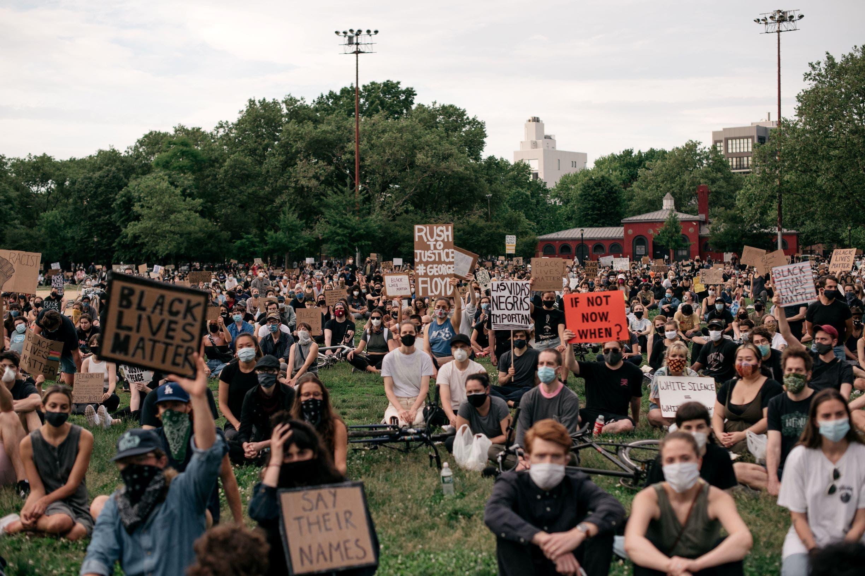 من احتجاجات أميركا (فرانس برس)