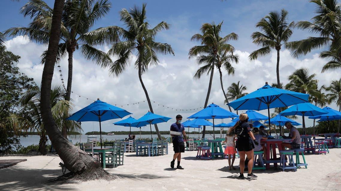 Morada Bay Beach in Islamorada, in the Florida Keys, during the new coronavirus pandemic, Monday, June 1, 2020. (AP)