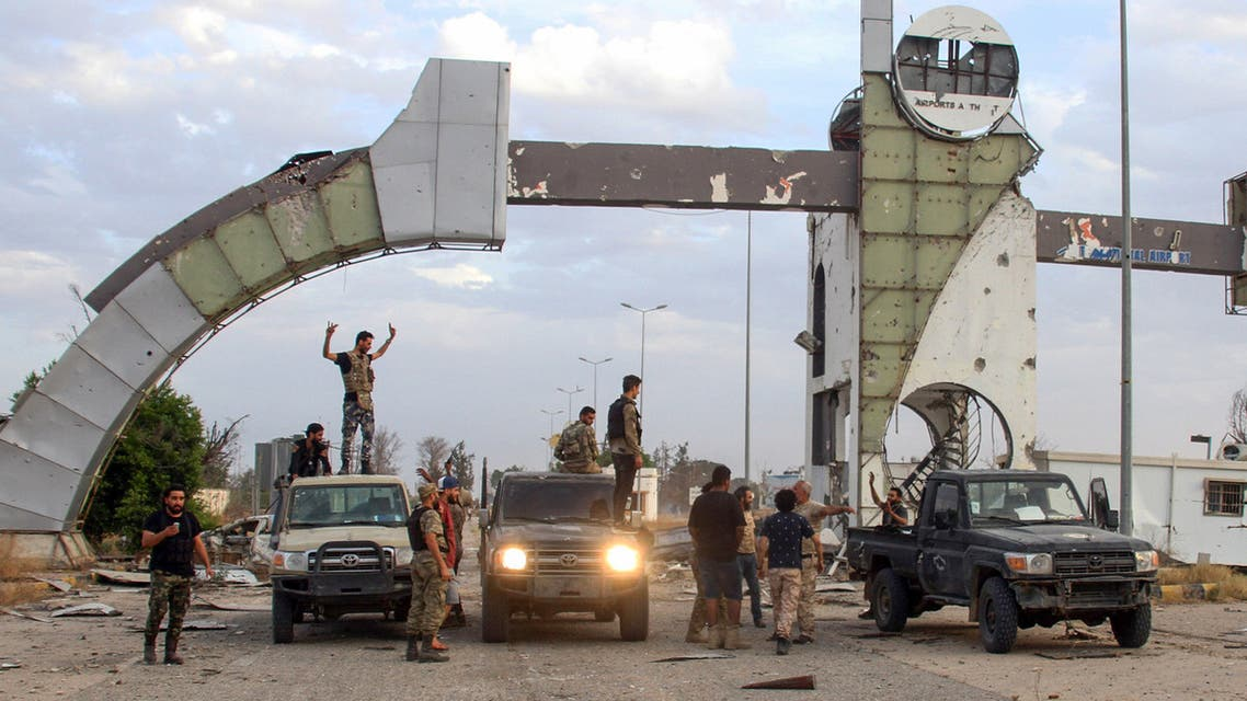 Fighters loyal to the UN-recognized Libyan Government of National Accord (GNA) recapture the capital Tripoli International Airport on June 3, 2020.