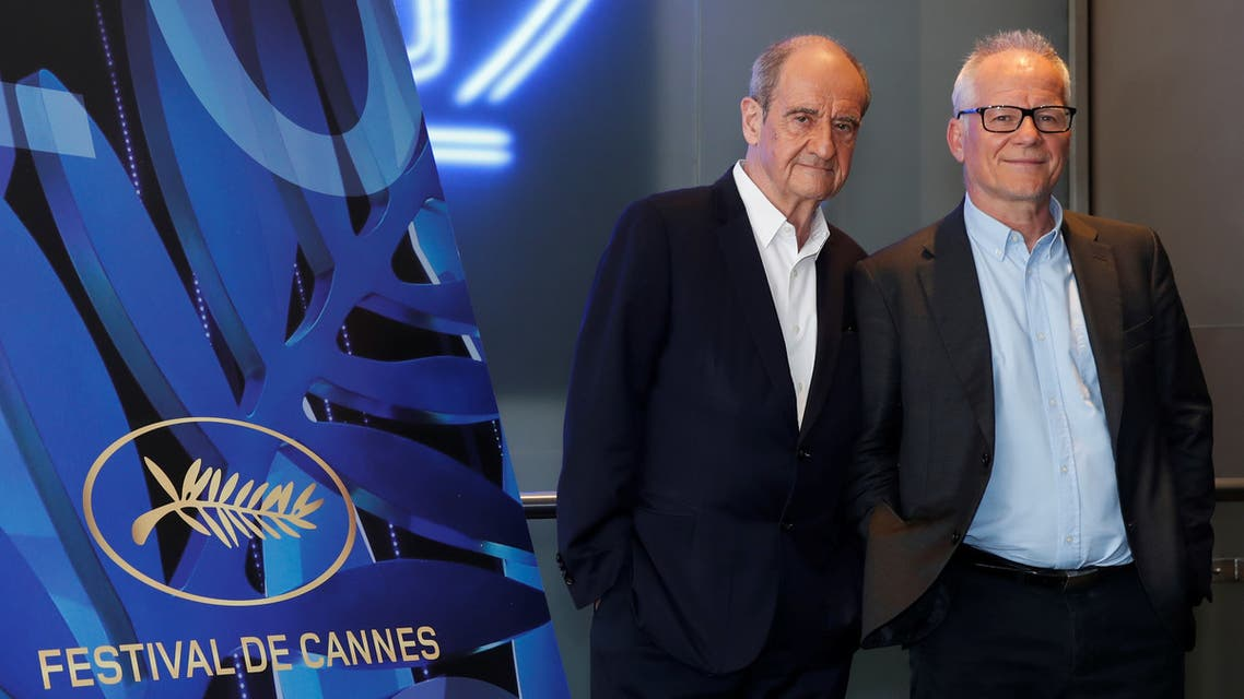 Cannes Film festival General Delegate Thierry Fremaux and Cannes Film festival President Pierre Lescure pose at the presentation of the official selection of the 73rd Cannes International Film Festival in Paris, France, June 3, 2020. REUTERS/Gonzalo Fuentes