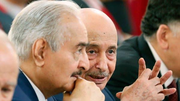 حفتر يناقش مع عقيلة صالح مبادرته بشأن الوضع الليبي