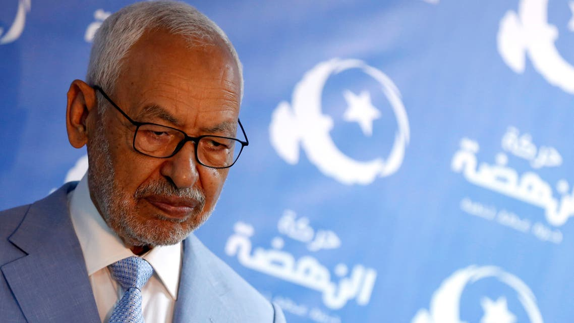 Rached Ghannouchi, leader of Tunisia's moderate Islamist Ennahda Party attends a news conference in Tunis, Tunisia September 27, 2019. REUTERS/Zoubeir Souissi