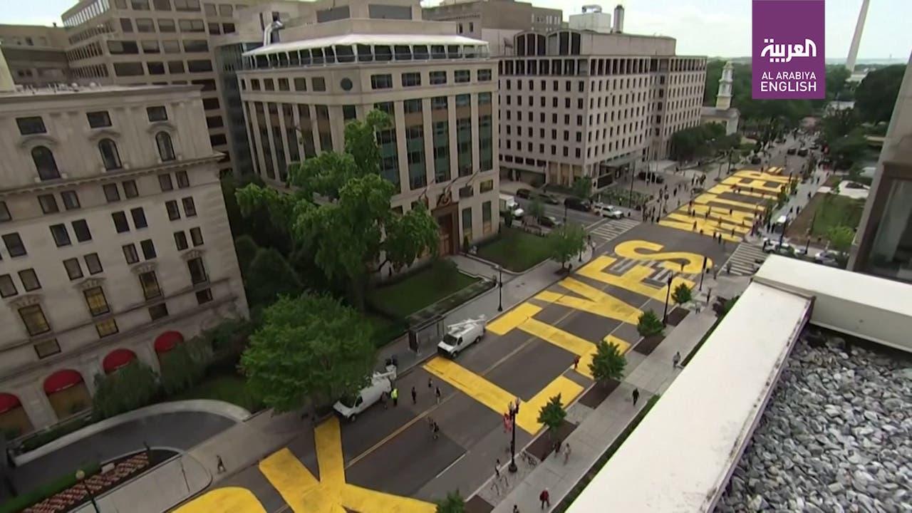 Washington emblazons defiant 'Black Lives Matter' sign near White House