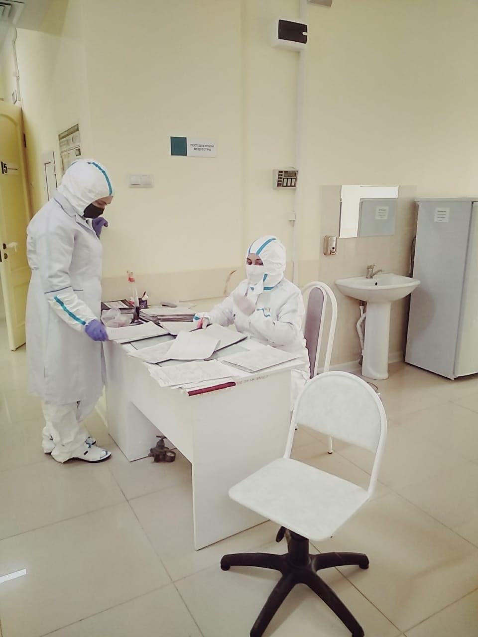 لباس واق من كورونا في أحد مستشفيات داغستان بروسيا
