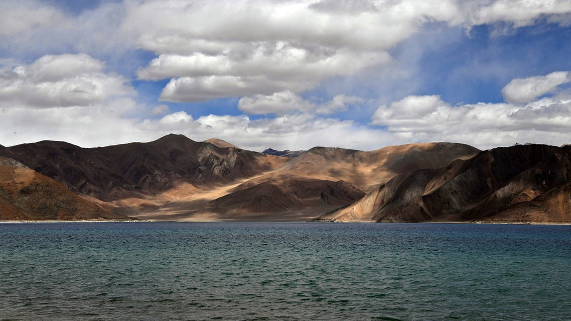 This photo taken on September 14, 2018, shows a general view of the Pangong Lake in Leh district of Union territory of Ladakh bordering India and China. US President Donald Trump offered on May 27, 2020 to mediate in what he called a raging border showdown between India and China in the Himalayas. Trump's offer came after Indian defence sources said hundreds of Chinese troops had moved into a disputed zone along their 3,500 kilometre-long (2,200 mile) frontier.