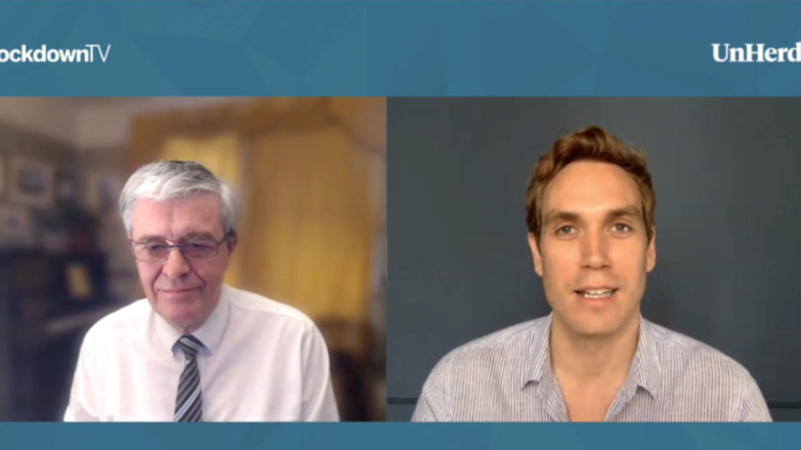 Professor Karl Friston speaks to Freddie Sayers on UnHerd's Lockdown TV. (Screengrab)