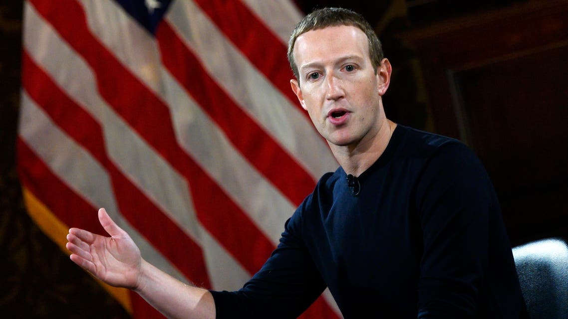 (FILES) In this file photo Facebook founder Mark Zuckerberg speaks at Georgetown University in a 'Conversation on Free Expression in Washington, DC on October 17, 2019. Facebook chief Mark Zuckerberg has defended his decision not to interfere with posts by US President Donald Trump, US media reported, after the social media giant's hands-off policy sparked outrage and prompted some employees to quit. Social media platforms have faced calls to moderate the president's comments, most recently because of the unrest gripping America in the wake of an unarmed black man's death during arrest as a white policeman knelt on his neck.