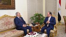 مصری صدرالسیسی کی خلیفہ حفتر سے ملاقات،لیبیا میں جنگ بندی کے لیے'قاہرہ اقدام'کا اعلان
