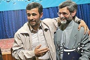 أحمدي نجاد وغلام حسين إلهام
