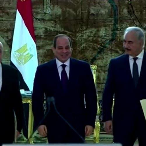 تفكيك الميليشيات ومجلس رئاسي.. نص إعلان القاهرة لحل أزمة ليبيا