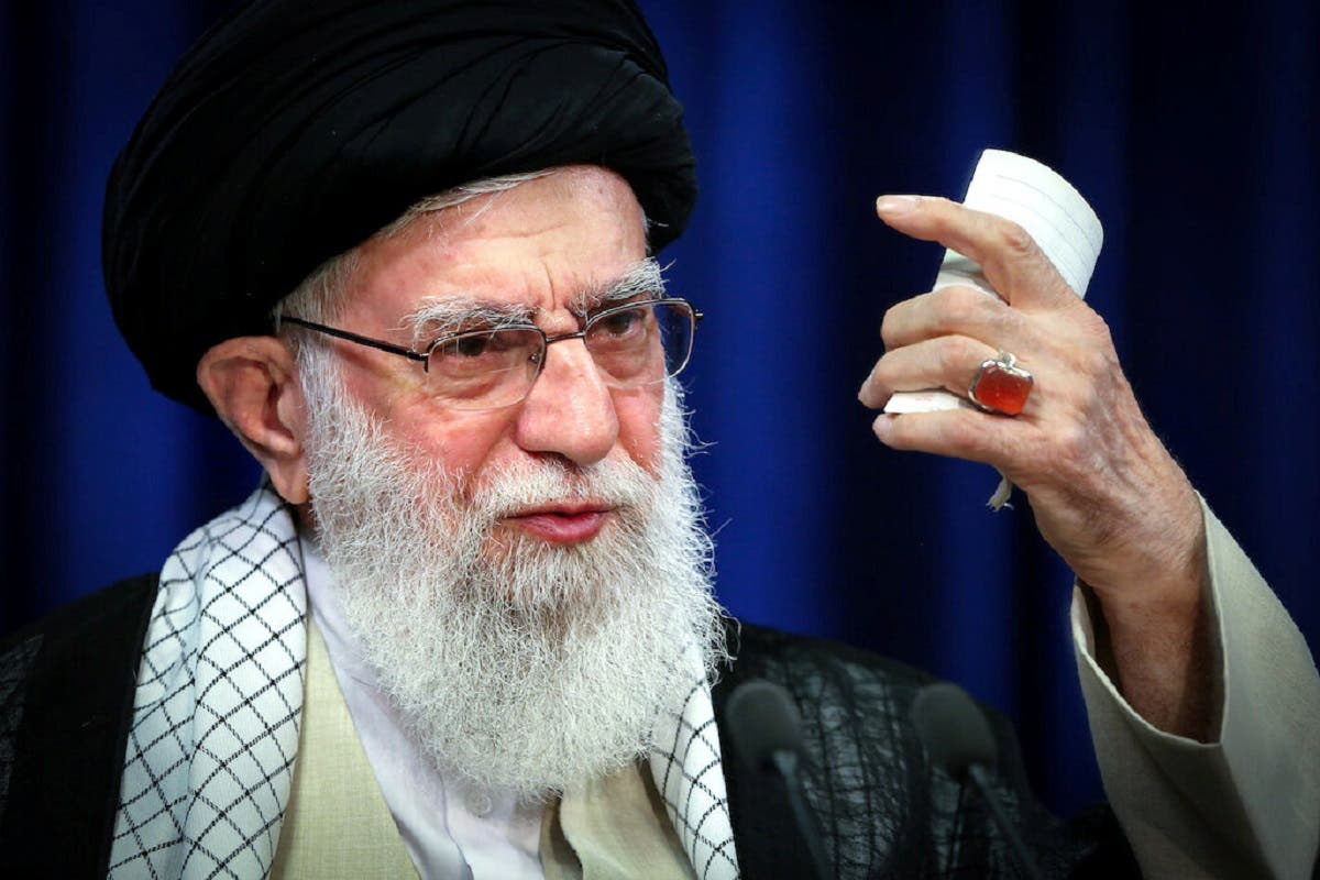 Iran's Supreme Leader Ayatollah Ali Khamenei delivers a televised speech. (Reuters)