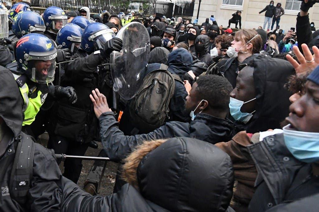 احتجاجات مناهضة للعنصرية في لندن