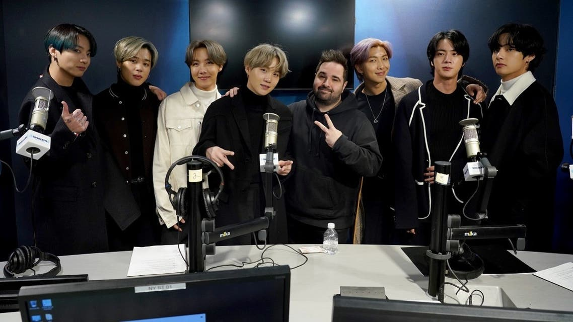 K-pop boy band BTS visit the SiriusXM Studios on February 21, 2020 in New York City. (AFP)