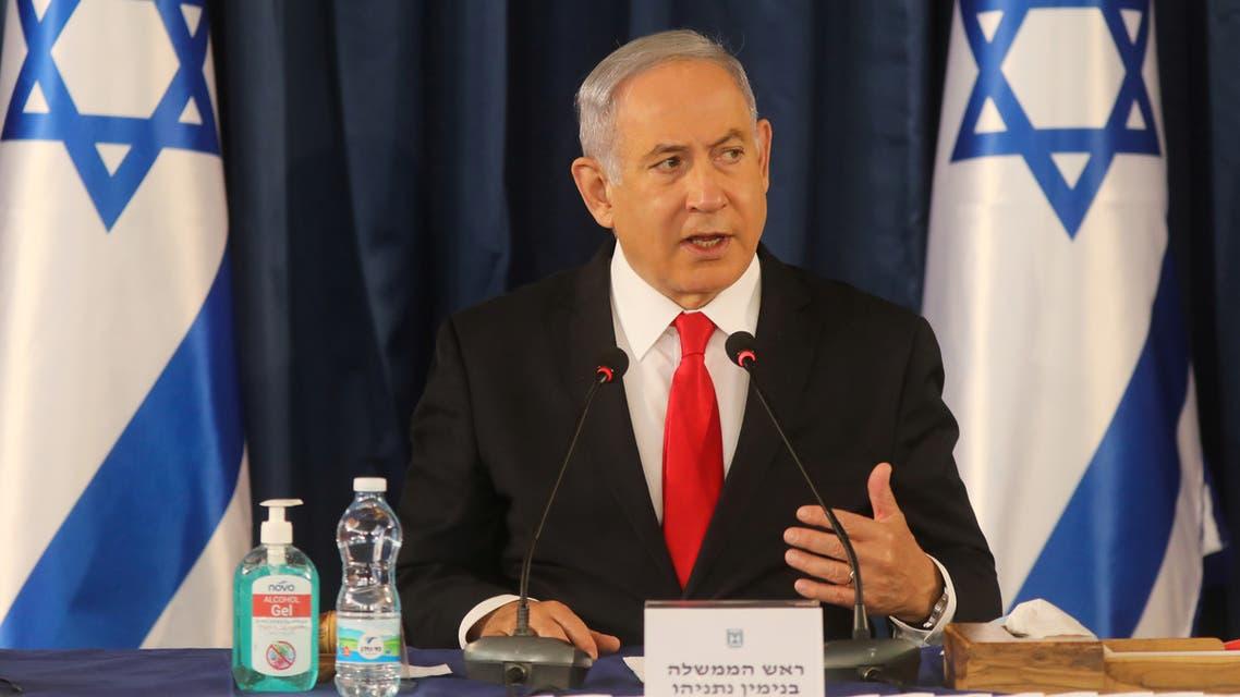نتنياهو خلال اجتماع مجلس الوزراء الأحد