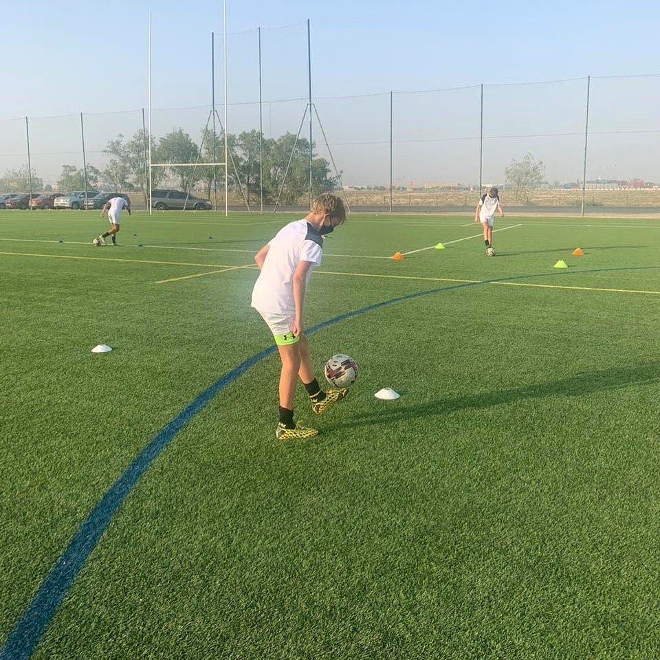 Children train at an unspecified Dubai football academy. (Dubai Sports Council)