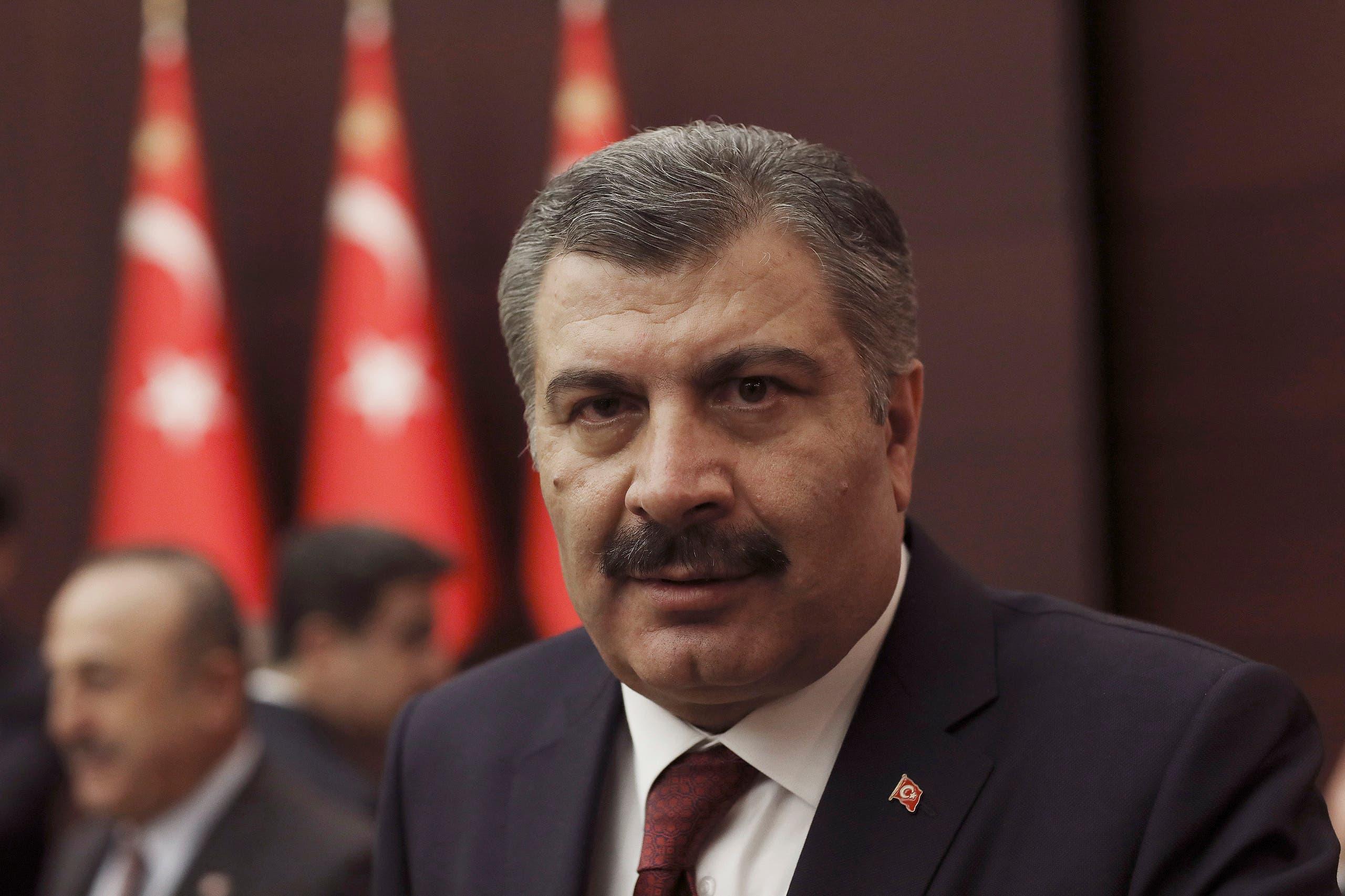 Turkey's Health Minister Fahrettin Koca speaks to journalists after a meeting on the new coronavirus in Ankara, Turkey. (File photo: AP)