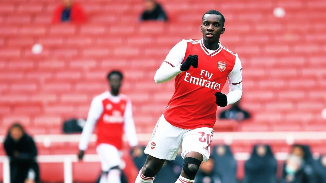 Arsenal's Eddie Nketiah scored a second-half hat-trick during the friendly. (Photo courtesy: Arsenal via Twitter)