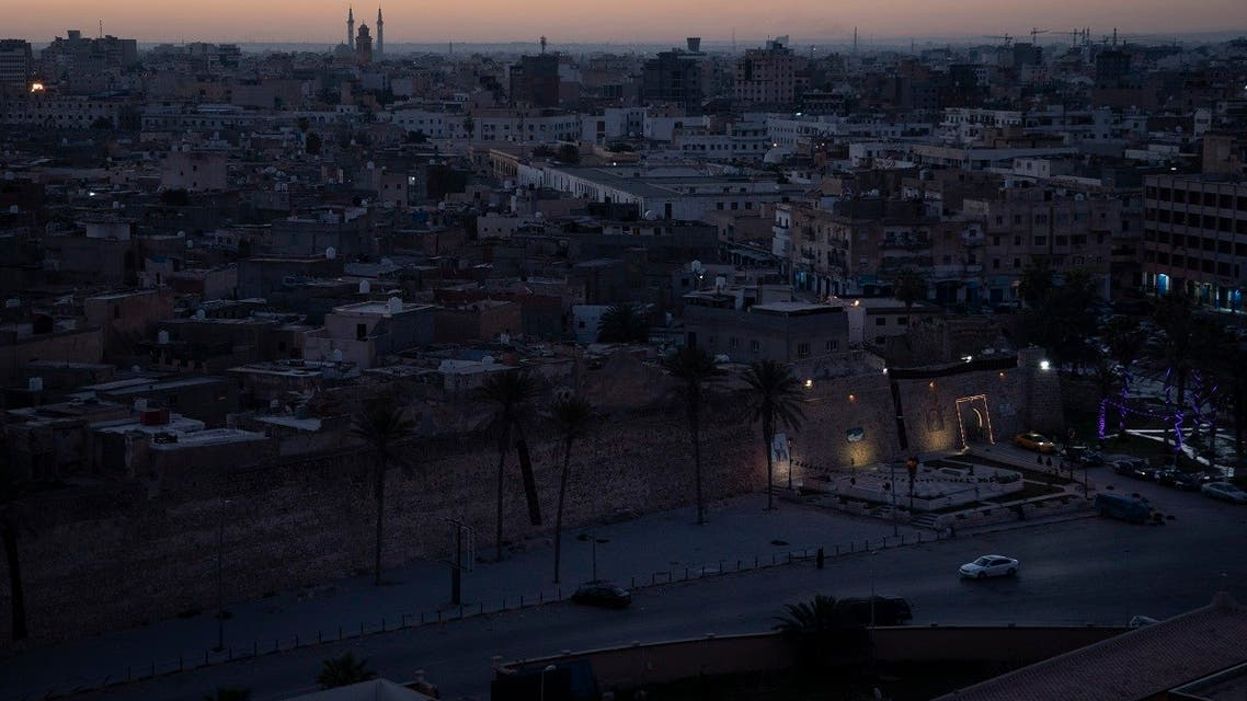 In this Feb. 29, 2020 photo, the walls surrounding the Old City are illuminated before sunrise in Tripoli, Libya. (AP)