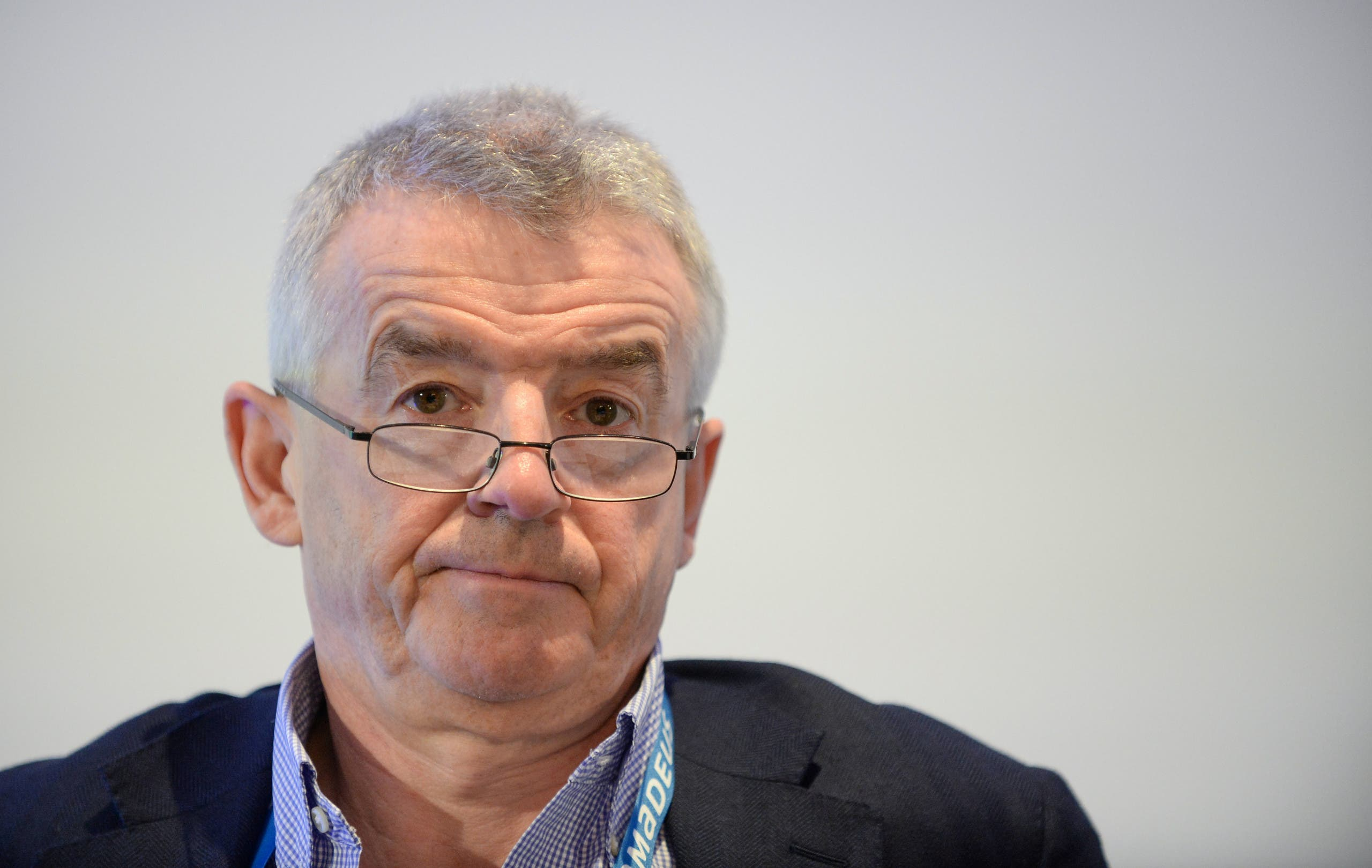 Ryainair boss Michael O'Leary attends an aviation summit in Brussels, March, 2020. (Reuters)