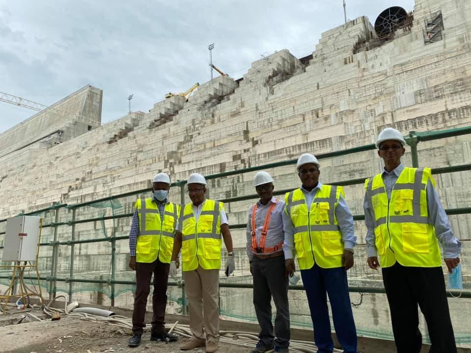 صورة من موقع سد النهضة نشرها وزير الري الإثيوبي