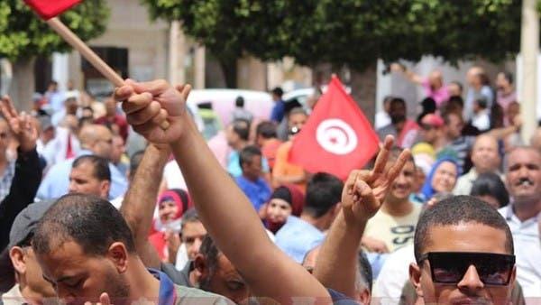 احتجاج نقابي في تونس.. هتافات ضد الغنوشي واستعمار تركيا