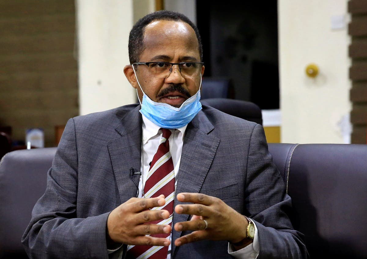 Sudan's Minister of Health Akram Ali Altom during an interview amid concerns about the spread of coronavirus disease, in Khartoum, Sudan April 11, 2020. (Reuters)
